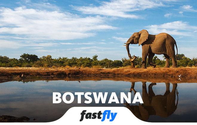 botswana ucak bileti