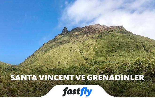 santa vincent ve grenadinler soufriere dağı